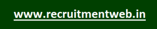 www.recruitmentweb.in Latest Govt Jobs Recruitment Web Online Notifications