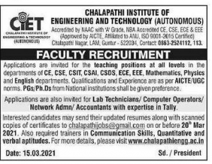 Chalapathi Institute of Engineering & Technology